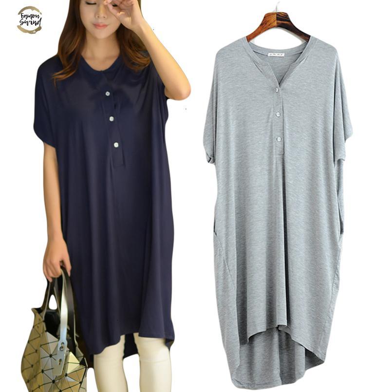 Nightgowns Femmes d'été Pyjamas Robes Casual Nuit Plus Size manches courtes Robes Loose Women Accueil Vêtements Chemise de nuit