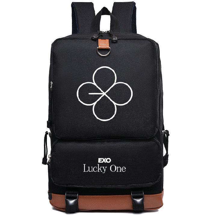 EXO sırt çantası Şanslı bir daypack DJ müzik grubu dizüstü okul çantası Boş sırt çantası Spor okul çantası Açık gün paketi