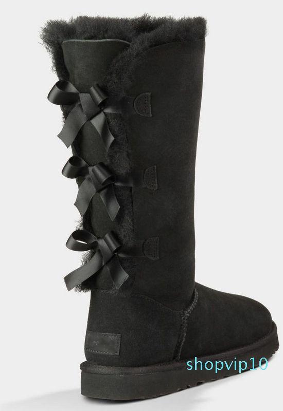 Hot Sale-OTS cuissarde en cuir Nubuck solide Scuffs extérieur femmes fille noire gris chaussures bleu marine