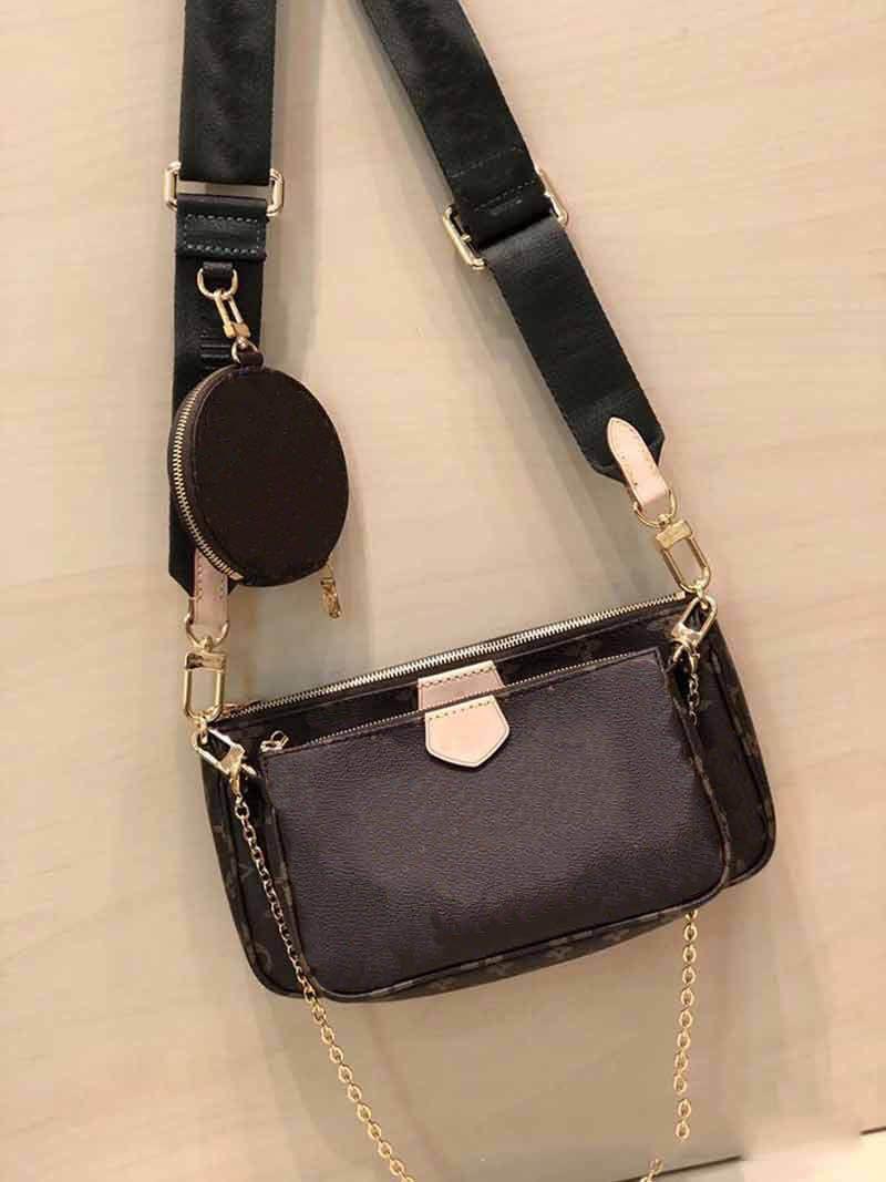 M44823 favoritos multi-pochette acessórios senhoras bolsa mulheres bolsa de ombro sacos crossbody L flor 3 pcs mulheres cadeia de bolsa tiracolo