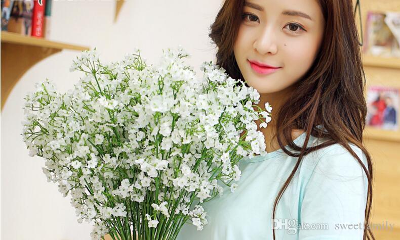 التنفس الاصطناعي وهمية جميلة جيبسوفيلا الطفل الحرير النباتات والزهور الرئيسية مناسبات الزفاف