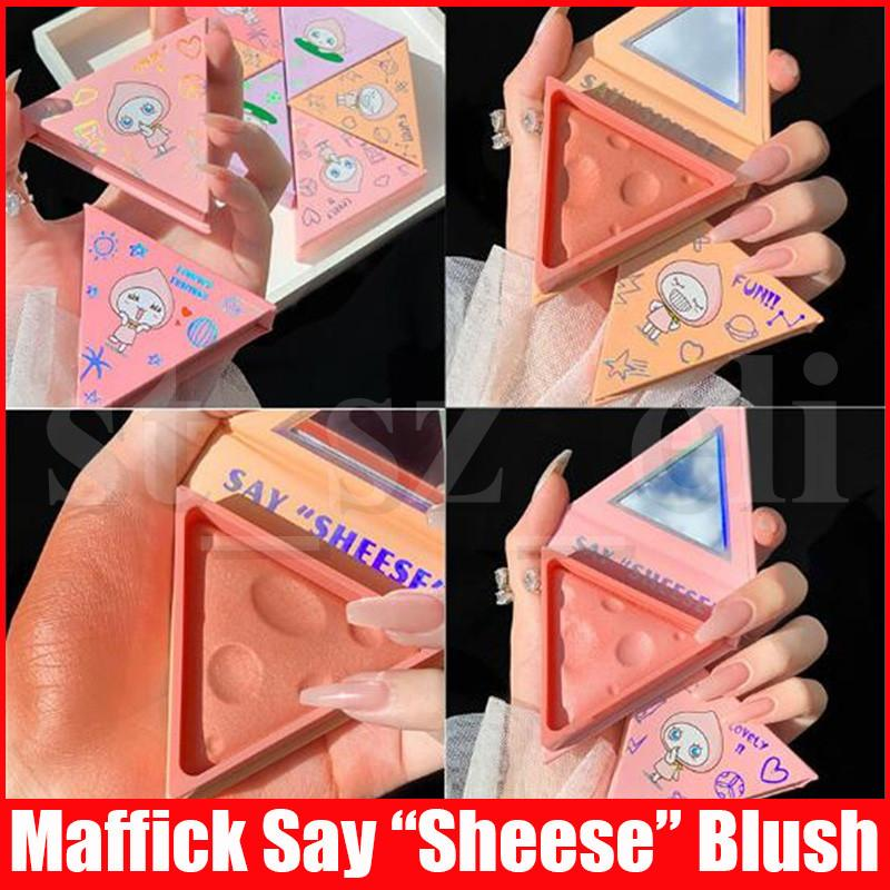 Maffick Face Makeup Maquiagem Blush Shimmer and Matte Blush Powder Palette SAY SHEESE Cheese Bronzer Blusher 4 Colors