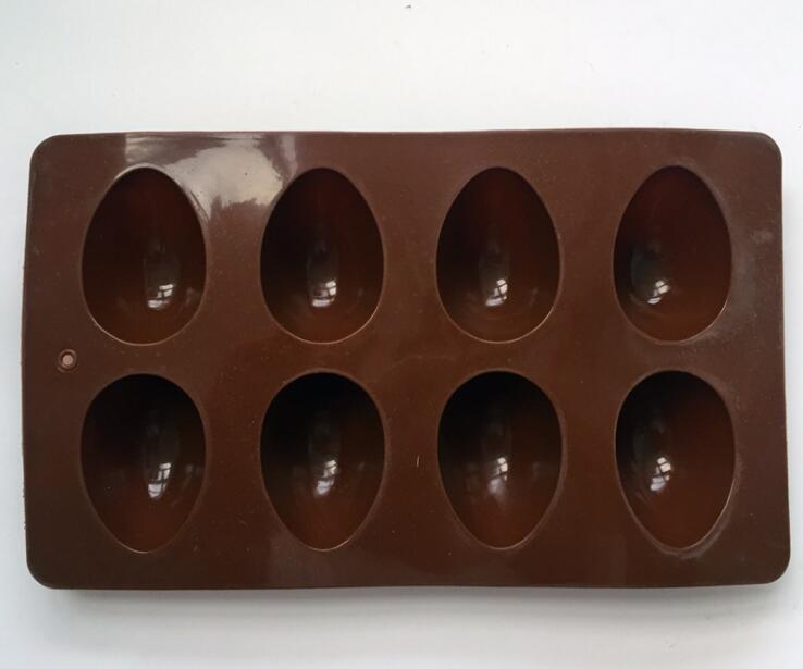 Пасхальное яйцо 3D Flush Silicone Доставка плесени Цвета DIY Форма Форма Форма Шоколадный торт Яичко Случайные Выпечки Выпечки PGHGD