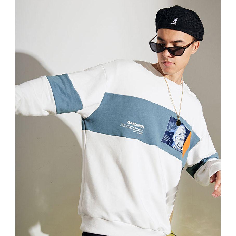 2019 Outono novos astronautas Designer de camisola dos homens da forma-Marca Impresso Hoodies dos homens de Luxo Roupa descontraída solto Hoodies Moda