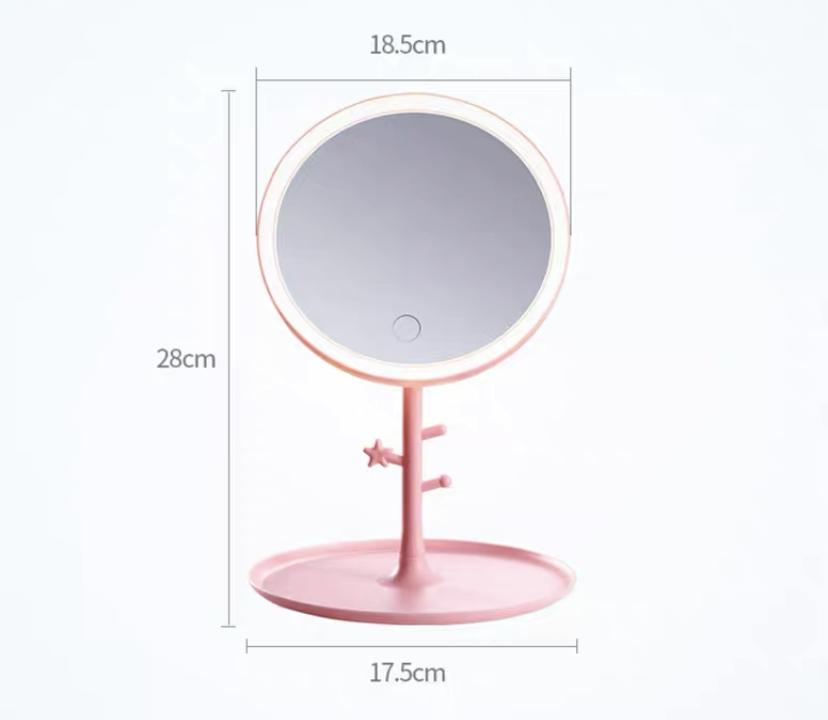 Desktop Led Makeup Mirror With Light, Led Makeup Mirror Desktop