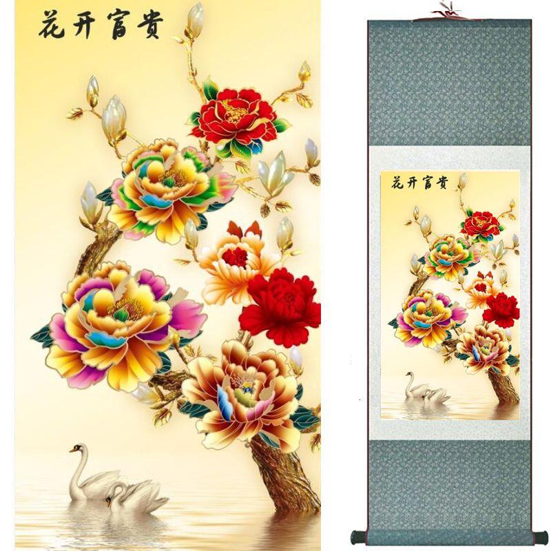 Цветы живопись китайское традиционное искусство живопись украшения дома painting20190905025