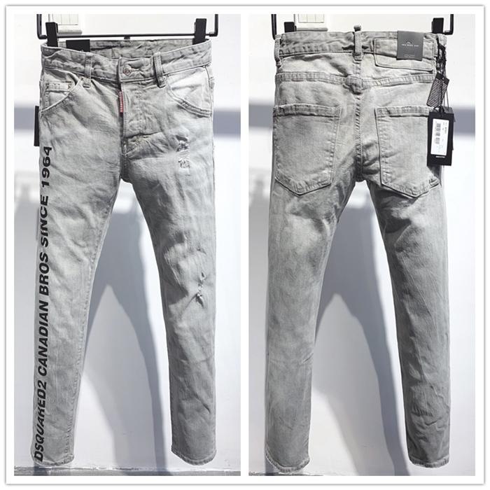 masculina de jeans da marca italiana de 2020 novo luxo de moda de alta qualidade calças de marcas clássicas calças de brim dos homens da forma dos homens de jeans