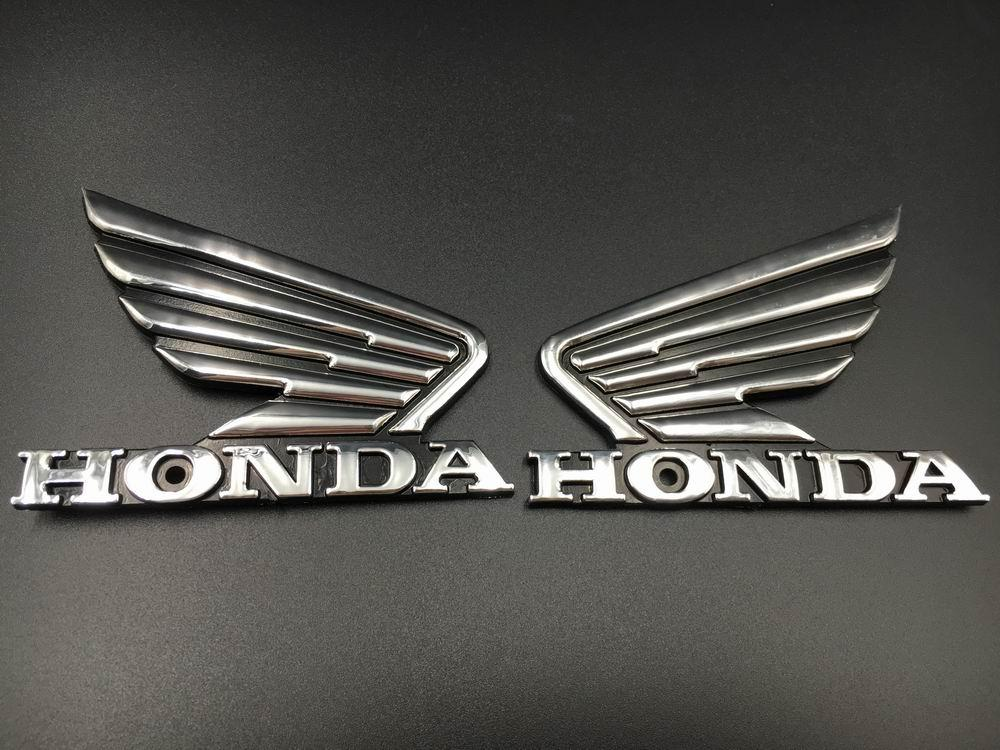 Motorcycle Chrome 3D ABS Fuel Tank Emblem 3M Decal Sticker Custom For Honda Wing