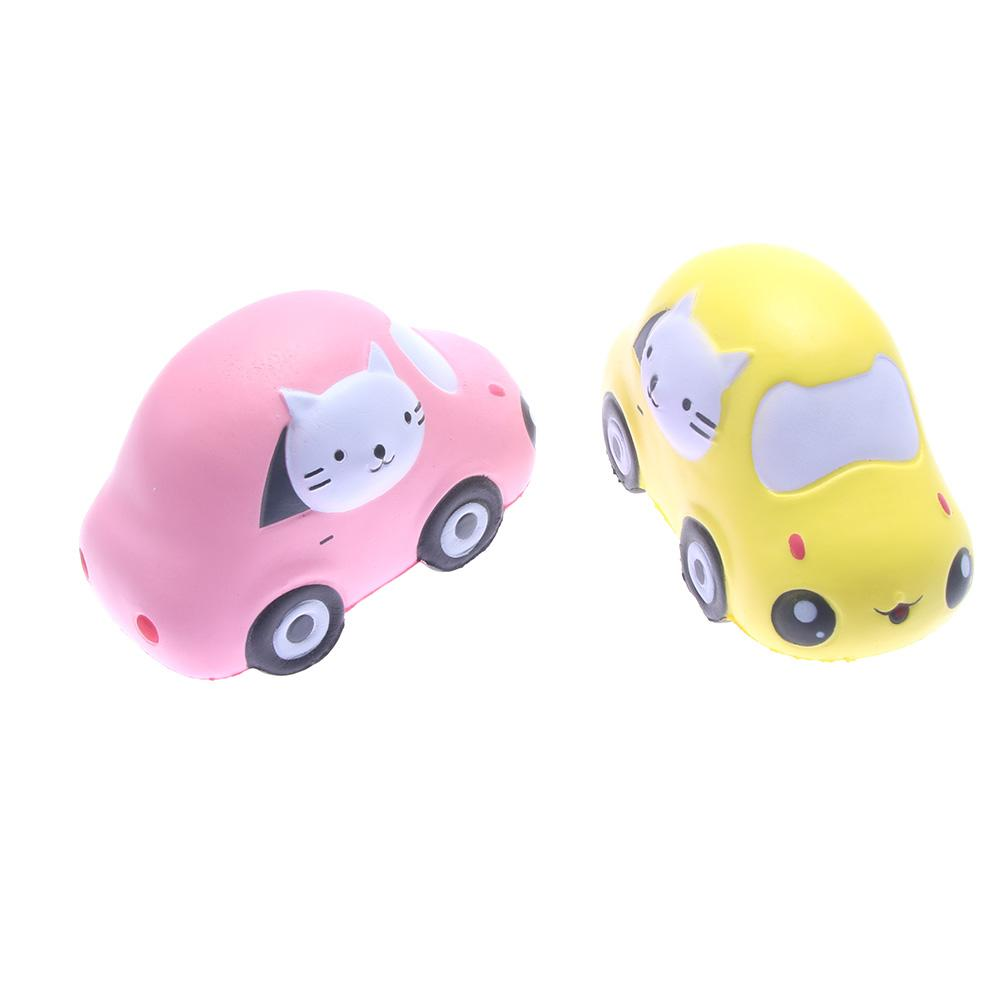 Hot Sale 1PC Squishy Cat Compact Car Soft Slow Rising Stretchy Squeeze Kid Toy Relieve Stress Hand Grips Muscle Power Training