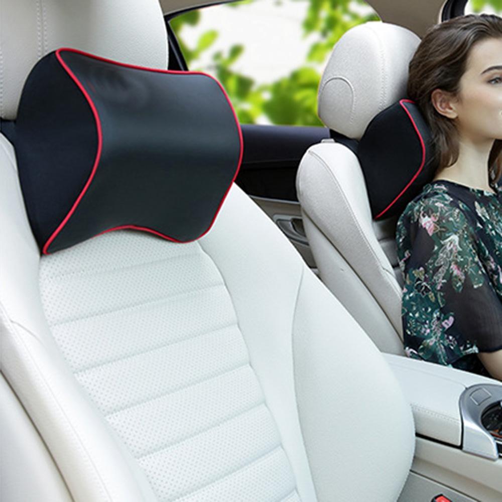 Auto asiento de coche reposacabezas almohada cojin cuello resto apoyo lumbar de la espuma de la memoria lenta recuperaci/ón el/ástica