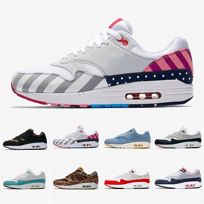 2019 Soft Atmos Work Blue 1s Uomo donna Scarpe da corsa 87s Scarpe da ginnastica OG Anniversary Parra Animal Pack Leopard Sports Designer Sneakers 36-45