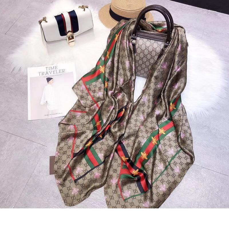 Designer 2019 nuova sciarpa di seta delle donne Migliore qualità di marca Bee sciarpe stile Sciarpe 180x90cm Sciarpe Pashmina Infinity donne sciarpa Sh