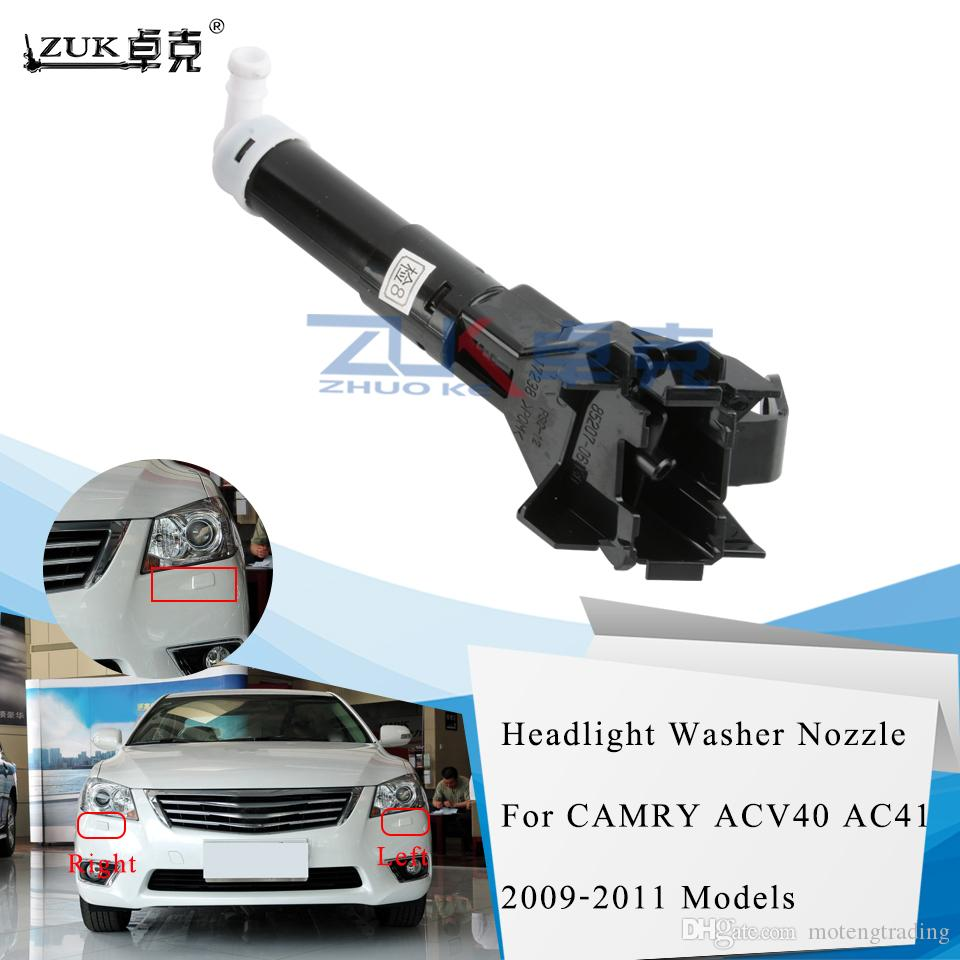ZUK alta qualità Sinistra Destra faro rondella ugelli attuatore Per TOYOTA CAMRY ACV40 AC41 2009 2010 2011 Lampada frontale dello spruzzo d'acqua Jet