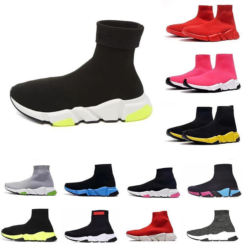 New Fashion Designer Sock Sports Chaussures Casual refroidissent Glitter Gris Triple Noir Tous Rouge Vitesse Entraîneur étoile Hommes Formateurs Runner en bas de la plate-forme