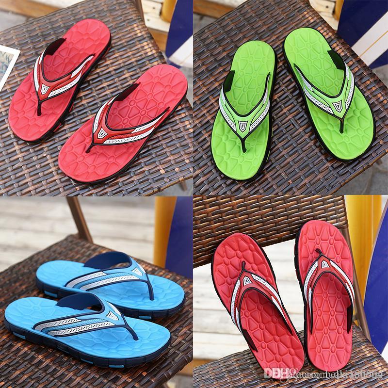 designer Luxury Sandals Rubber Slide Sandal Slippers Green Red blue Stripe Fashion Design Men Classic Summer Flip Flops Summer beach Sandal