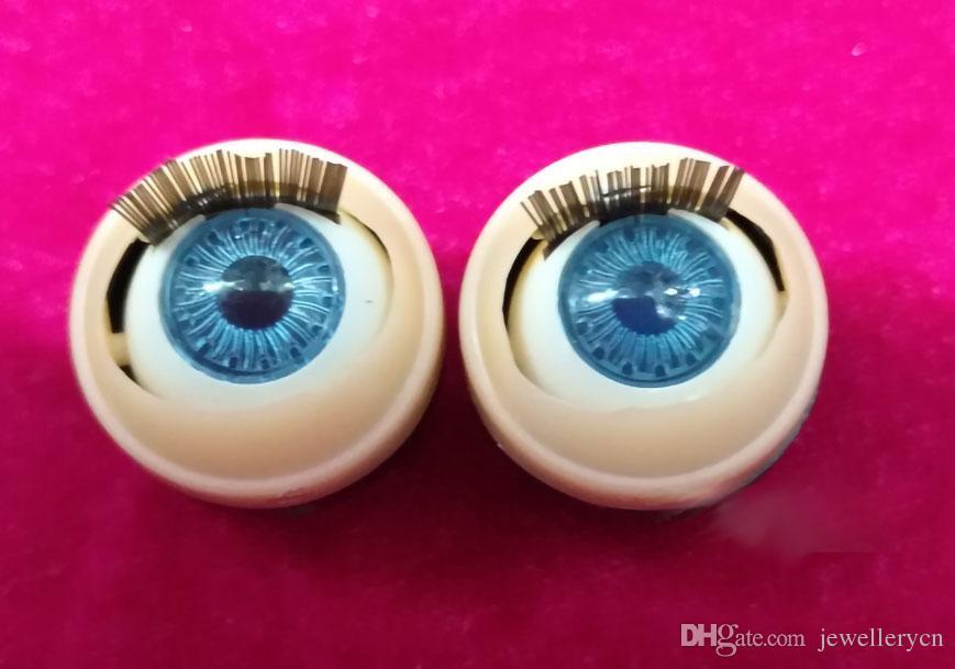 5 paires / beaucoup plus Taille de la taille meuble poupée de poupées yeux yeux perles Beads Blue Eye bijoux pour bricolage fabrication accessoires bijoux jouets poupées yeux