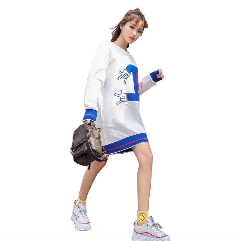 jTWSb t5AI2 Новая весна Cotton2020 корейски средней длины свитер одежды Cotton2020 Весна новых корейских женщин средней длины в стиле топ Топ Swea