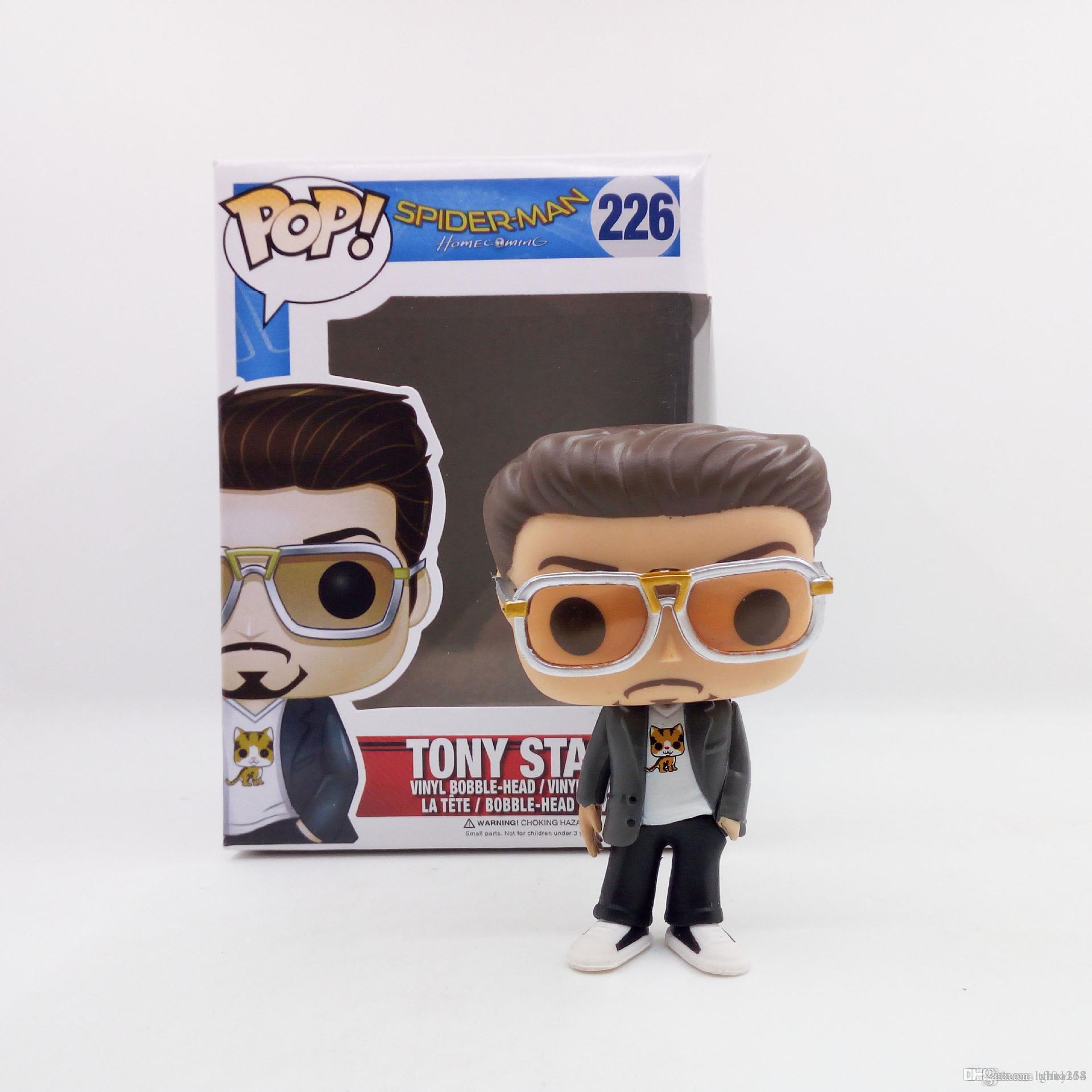 Kutu Oyuncak Hediye # 226 oyuncak LXH Yepyeni lowprice Çok güzel Funko POP Örümcek Adam Eve Dönüş Tony Stark Vinil Eylem Şekil