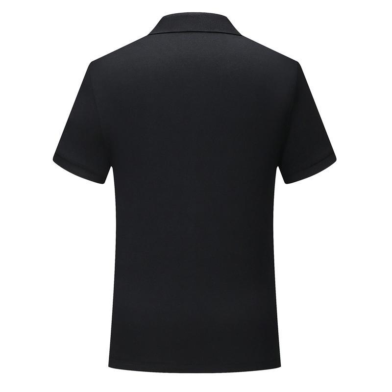 Polo shirt uniform Black SD chongfu 899032New classic solid color short-sleeved men and women with comfortable and breathable