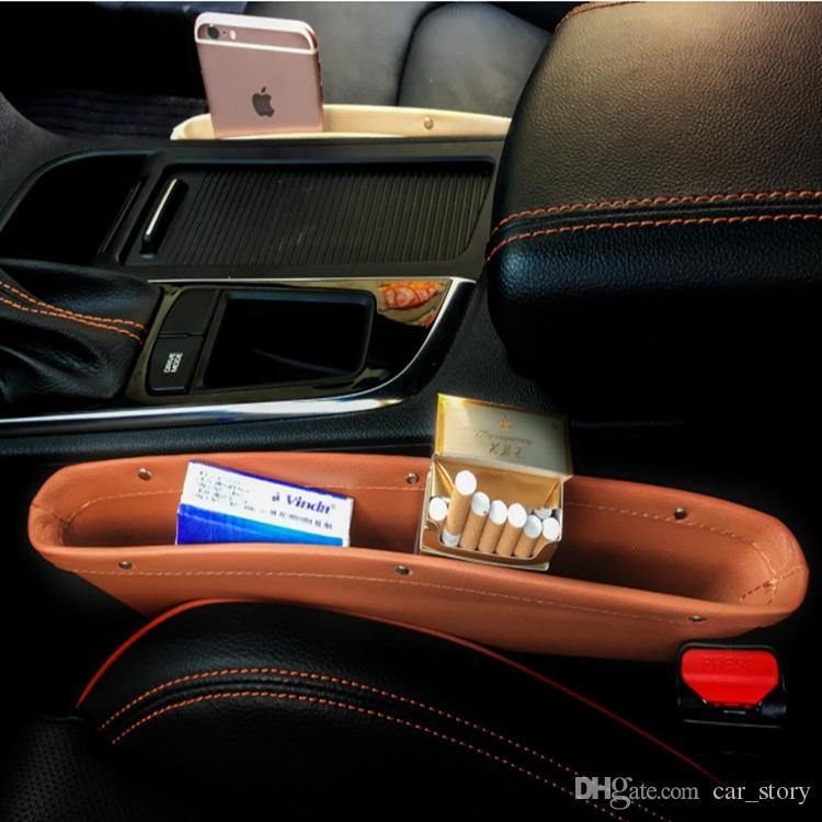 1x Catch Catcher Box Caddy Car Seat Gap Slit Pocket Storage Organizer Holder Box