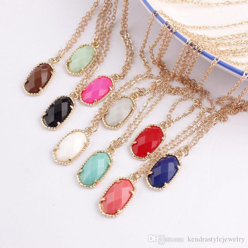 Wholesale 2020 Designer Inspired Spring Summer Abalone Shell Faceted Resin Oval Stone Pendant Statement Necklace For Women Fashion Jewelry Heart Pendants Necklaces Silver Necklaces From Kendrastylejewelry 1 62 Dhgate Com