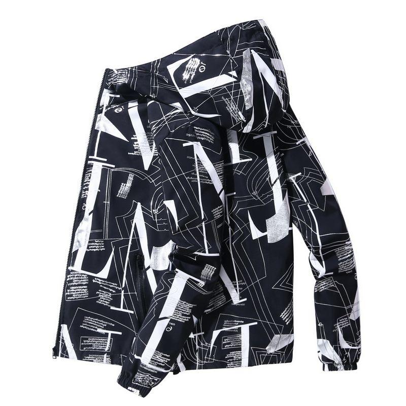2020 Spring Men Jacket Luminous Hip Hop ретро цвет Лоскутной куртка Ветровка Streetwear Track Hipster Плюс размере 5XL 6XL 7XL T200502