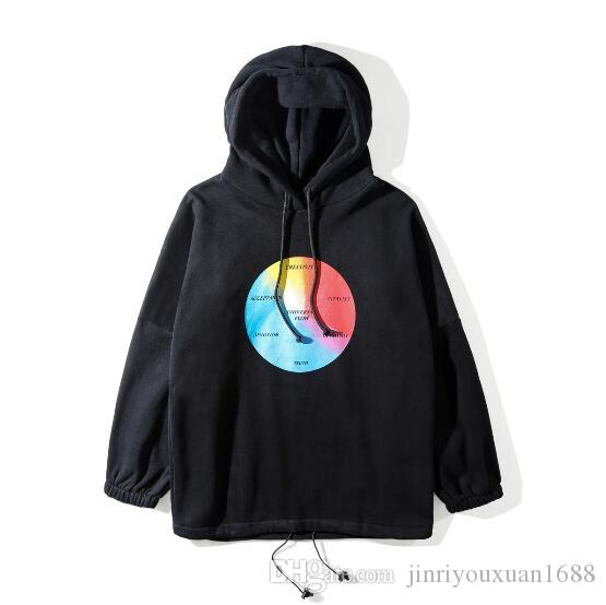2019 Wholesale- coat Hooded Rain Coat Water-proof Sun Protection Trench Casual Hi-Street Fashion Brand Men Clothing European size