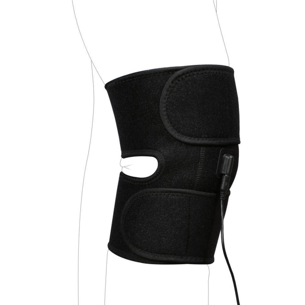 YOSOO assistenza sanitaria di ricarica USB terapia del ginocchio supporto elastico Sport Protector Wrap Patella Guardia Volleyball Knee Pad T191230