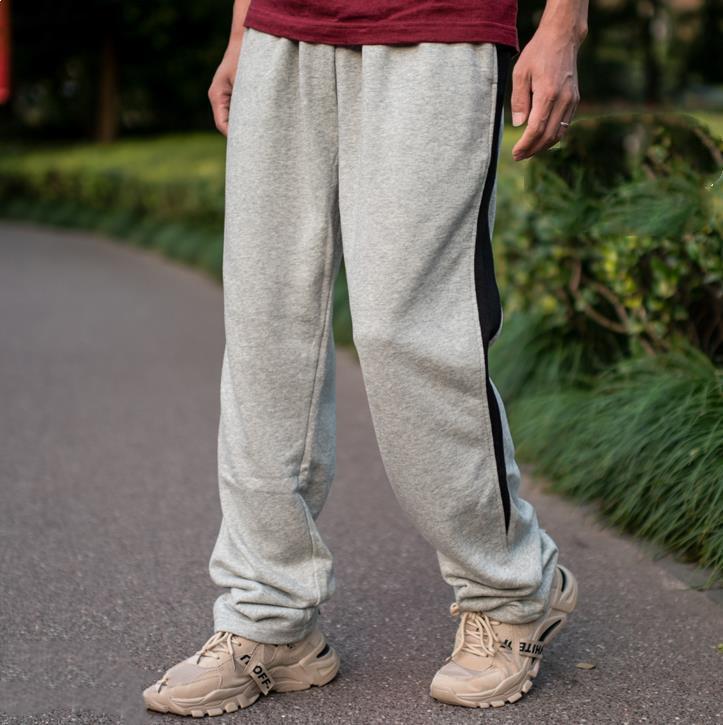 Men Sweatpants Hiphop jogging diritto allentato pantaloni larghi Uomo della Mens Plus Size 5XL Fat Boy pantaloni più tasche Hip Hop Bottoms
