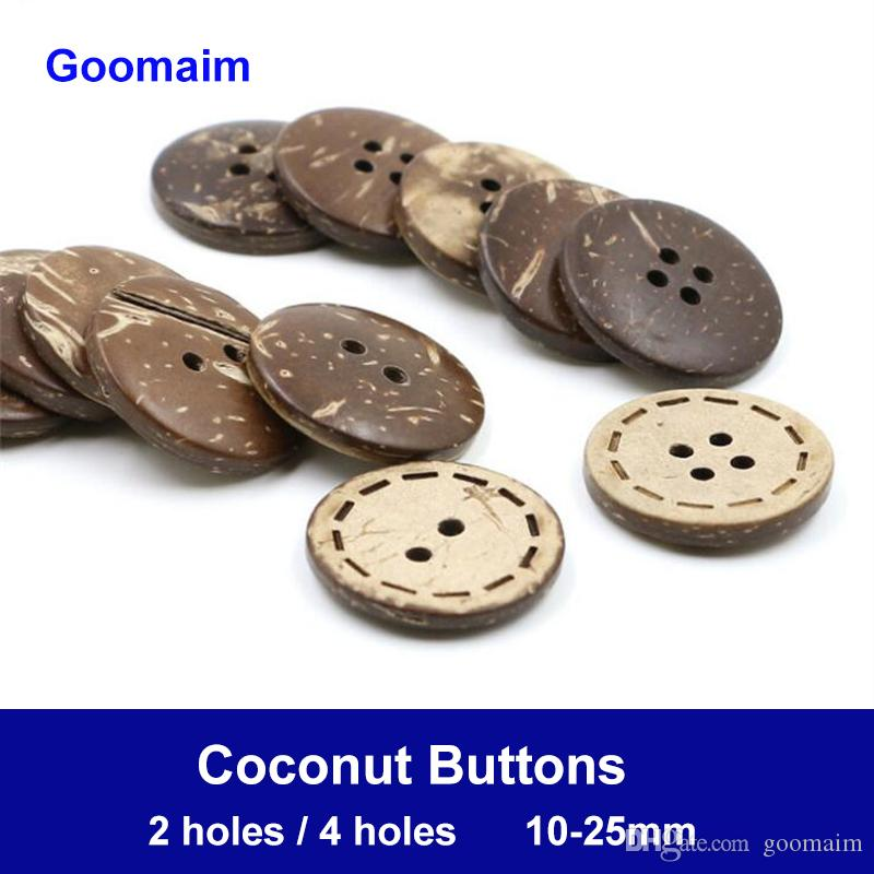 1000 pieces/lot 10 mm natural color 4 holes coconut buttons natural texture decorative wear buttons for crafts sewing decorative DIY buttons