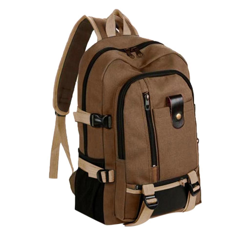 Large Capacity Anti Theft Backpack Vintage Travel Canvas Leather Backpack Sport Rucksack Satchel School Hiking Bag#YL