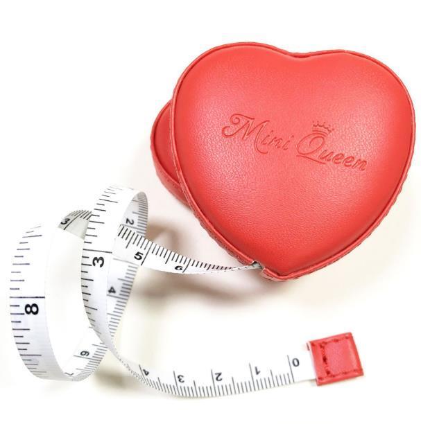 Ölçme Ölçüm Aletleri Mini kalp şeklindeki rulo otomatik streç bel çevresi ve göğüs çevresi sizinle bir mezura taşımak