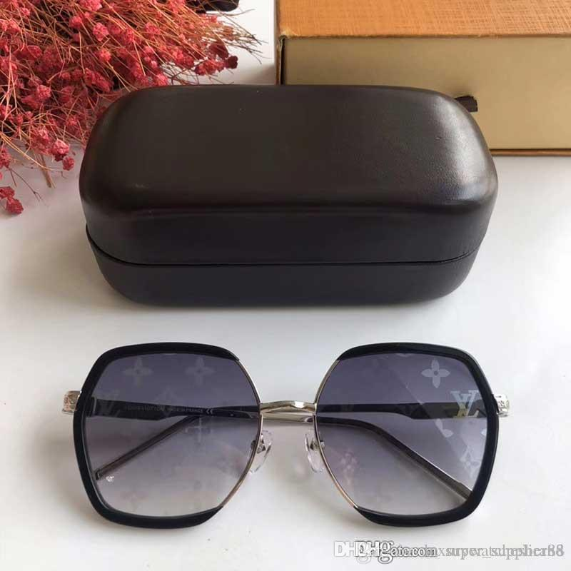 marca Classic Retro Occhiali da sole donna uomo Hexagon occhiali da sole della struttura del metallo Eyewear Occhiali da sole firmati quadrati con casi neri Z1269E