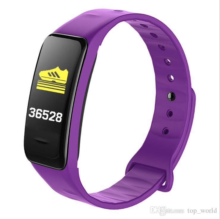 C1 Plus Wrinathbands Smart Bracelet цветной экран кровяное давление Фитнес трекер сердечный монитор Smartband Sports для Android iOS