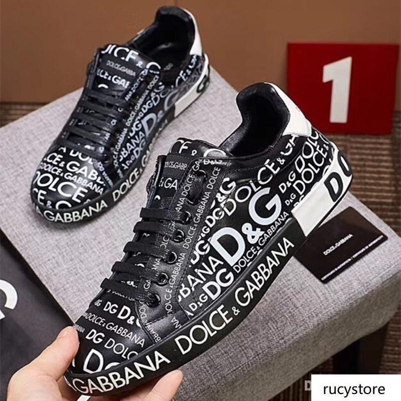 Italion Designer Luxus Mens-beiläufigen Schuh-echtes Leder Triple-Weiß Schwarz Trainer Freizeit Run Sneaker qualit