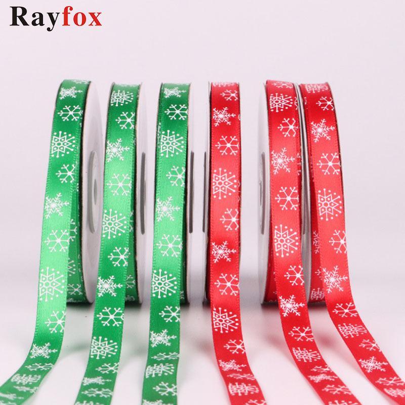 """10 метров / пакет 3/8 """"(10 мм) рождественские украшения ленты красные / зеленые украшения рождественский подарок украшения рождественская вечеринка декор дети подарок"""