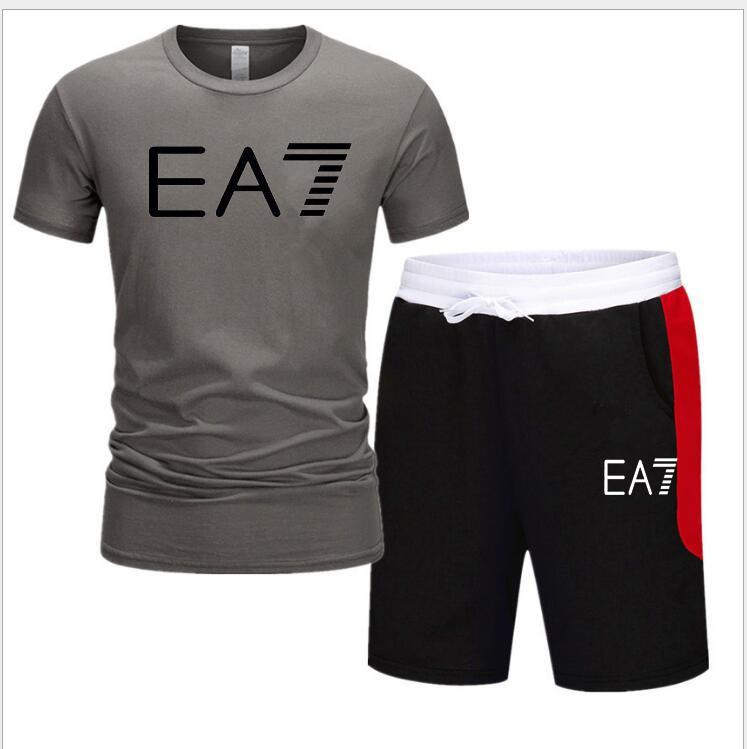 Survêtement Hommes Vêtements Ensembles T-shirt imprimé d'été Shorts Hommes 2 Pièces 3d hommes Ensemble à manches courtes + Shorts Haut recadrée Taille de l'UE