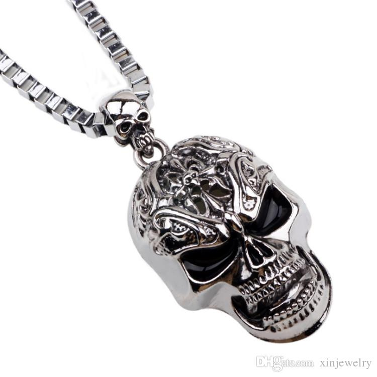 Long Hip Hop Skull Necklace Pendant Fashion Non-mainstream Snake Bone Chain Quality Assurance Cheap Sales Skeleton Necklaces