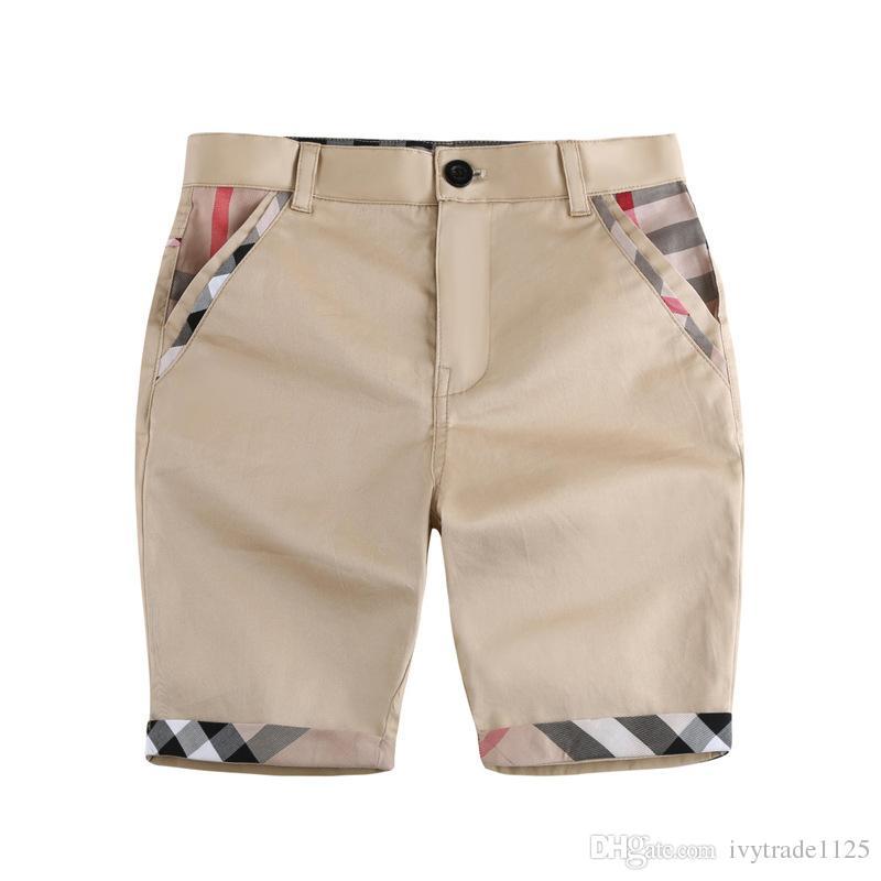 단색 디자인 소년 여름 100 %면 중간 바지 소년 여름 짧은