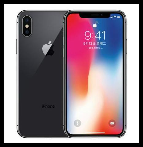 Refurbished Original iPhone X With Face ID 64GB 256GB 4G LTE Mobile phone 5.8'' 12.0MP Unlocked Cellphone