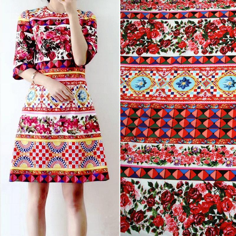 소프트 염료 꽃 패치 워크는 아이 여성을위한 100 %면 직물 인형 DIY TISSUS 노소 미터 천 재질 직물 드레스 인쇄