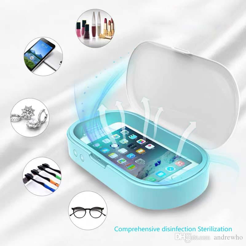 UV Telefon Sterilizatör Kutusu Çok Fonksiyonlu Dezenfeksiyon Temizleyici Takı İzle Diş Fırçası Gözlük Temizleyici Temizleyici Dezenfektan Aromaterapi Maske