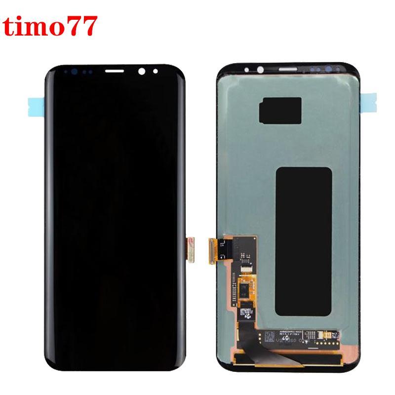 Samsung Galaxy S8 artı lcd G955 G955F G955A G955FD G955P G955S G950F G950A LCD ekran dokunmatik ekran Sayısallaştırıcı ücretsiz DHL İçin Orjinal