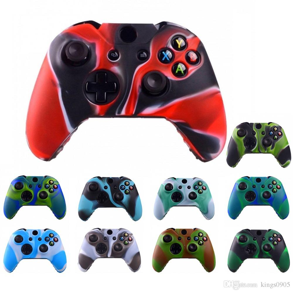 Durable Camouflage Camo Silicone guard Gel Rubber Soft sleeve Skin Grip Cover Case For Microsoft Xbox One 1 Controller Protector