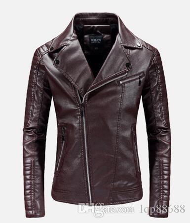 Primavera autunno Moda nuovi uomini abbigliamento in pelle moda moto Capispalla Cappotti giacca