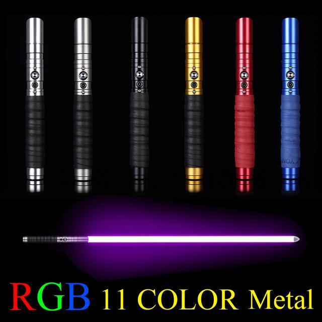Косплей металл световой меч многоцветный световой меч со звуком светодиодные игрушки подарок открытый творческий лазер мигающий дети свет сабля войны игрушки