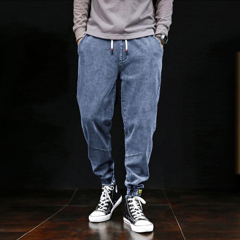 Giapponese Vintage Moda Uomo Jeans Large Size S-7XL Big Plastic Man Harem Jeans Cargo Pants Designer Hip Hop Pantaloni Men