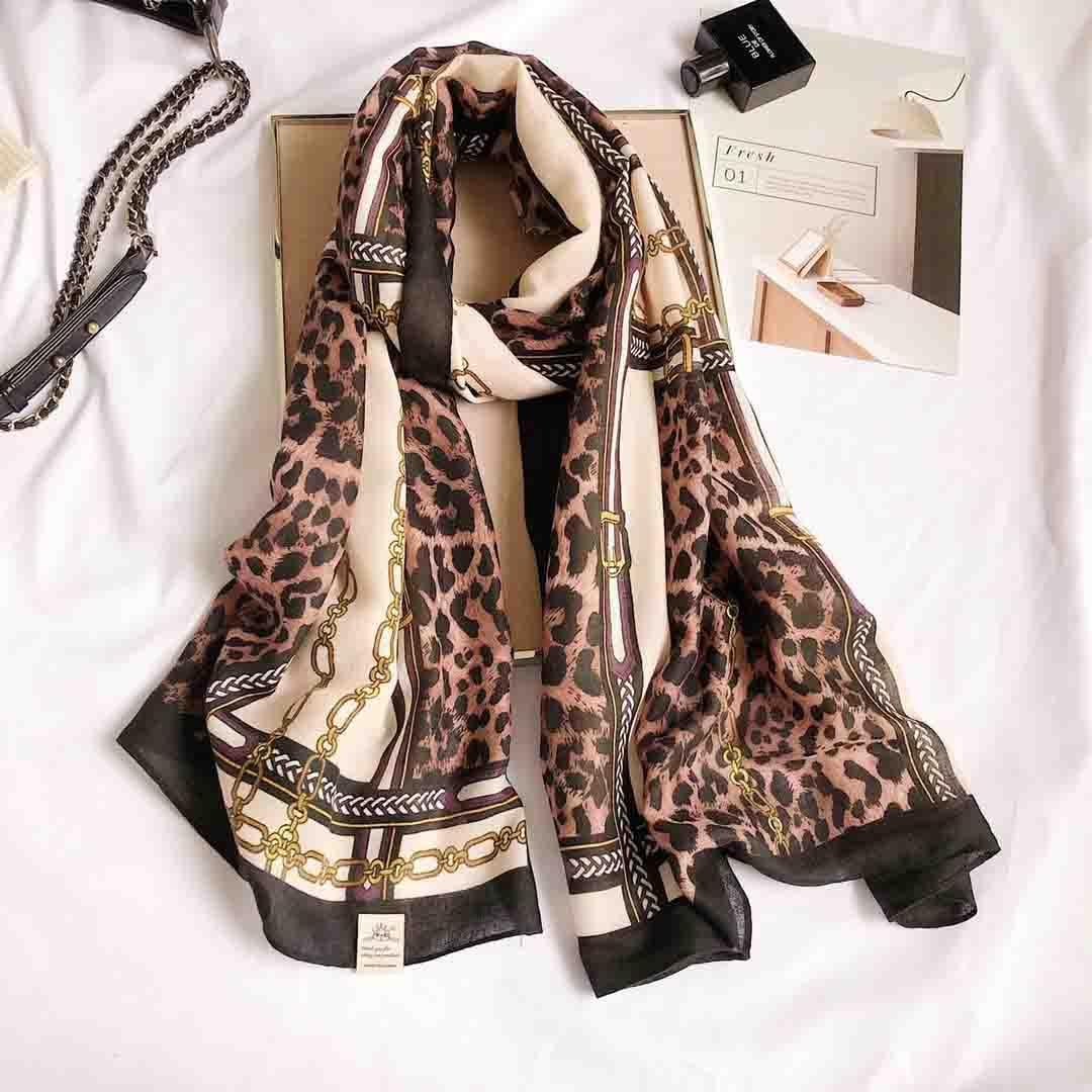 180*90cm Autumn Winter Female Leopard Print Scarf Women Cotton Blend Scarves Long Shawl Wrap Blanket Warm Drop Shipping
