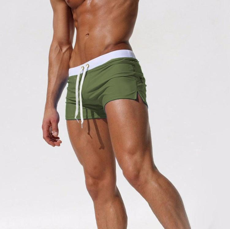 Мужская Спортивная Повседневная Одежда Quick Dry Swim Wear Короткие Зеленые Летние Пляжные Шорты Мужские Горячие Сексуальные Настольные Шорты Xxl Мальчики Геи