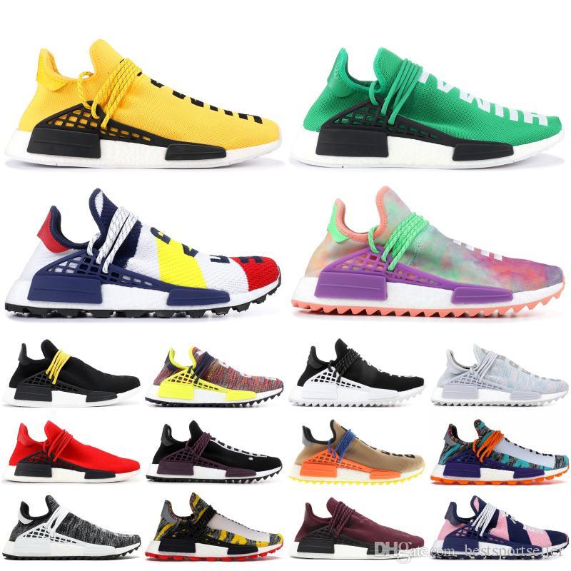 NMD رخيصة أنواع لا حصر لها الجنس البشري الرجال الاحذية فاريل وليامز الأصفر بي بي سي الأنواع الأسود إمرأة المدربين أحذية رياضية الرياضة